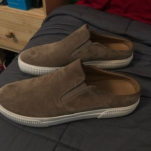 Vince Suede Slip On No Heel Brown
